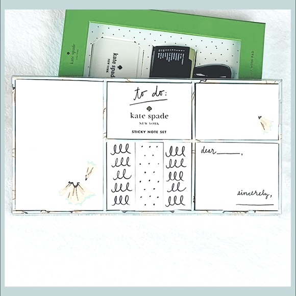 Kate Spade | Sticky Note Stattionary set NEW!